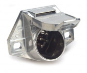 Heavy Duty 7-Way Socket with Exposed Terminals
