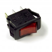 Red 3 Blade Illuminated Rocker Switch