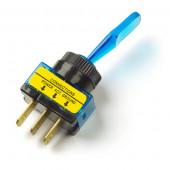 Blue Illuminated Toggle Switch