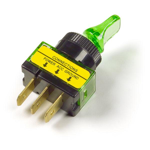 Green Illuminated Duckbill Toggle Switch