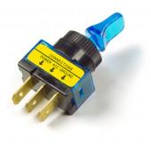 Blue Illuminated Duckbill Toggle Switch