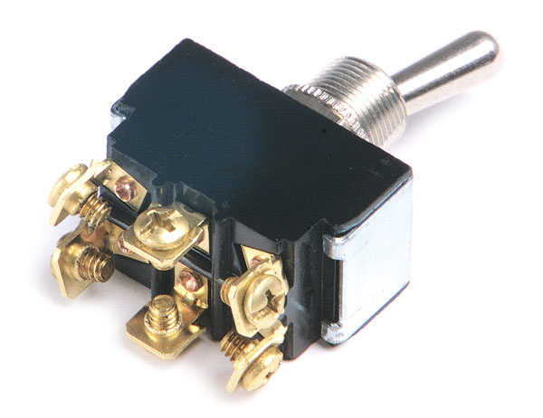 6 Screw On/On Heavy Duty Toggle Switch