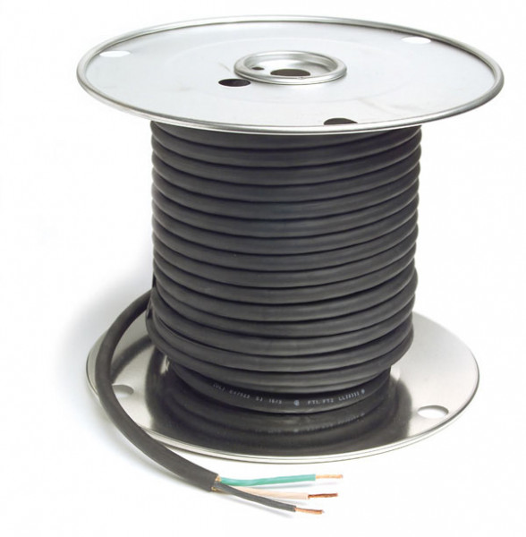 Portable Extension Cable - Type SJOW, 16 Gauge, 3 Conductor, Wire Length 100'