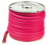 spool of red welding cable thumbnail