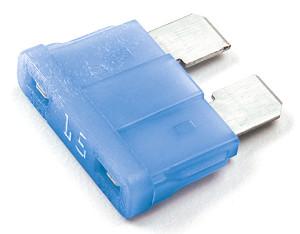 Fusible de cuchilla estándar con indicador LED, azul
