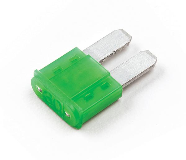 Grüne Micro2®-Flachsicherung