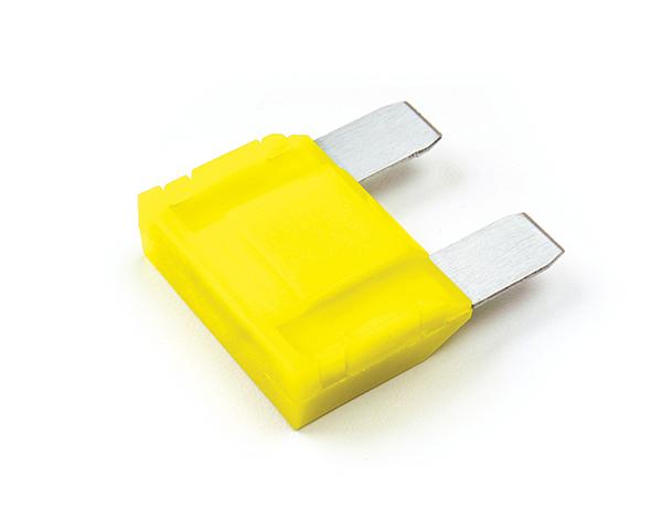 Große, gelbe Flachsicherung