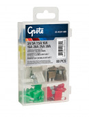 Standard Blade Fuse Assortment 80 Pack (3A, 5A, 7.5A, 10A, 15A, 20A, 25A, 30A)