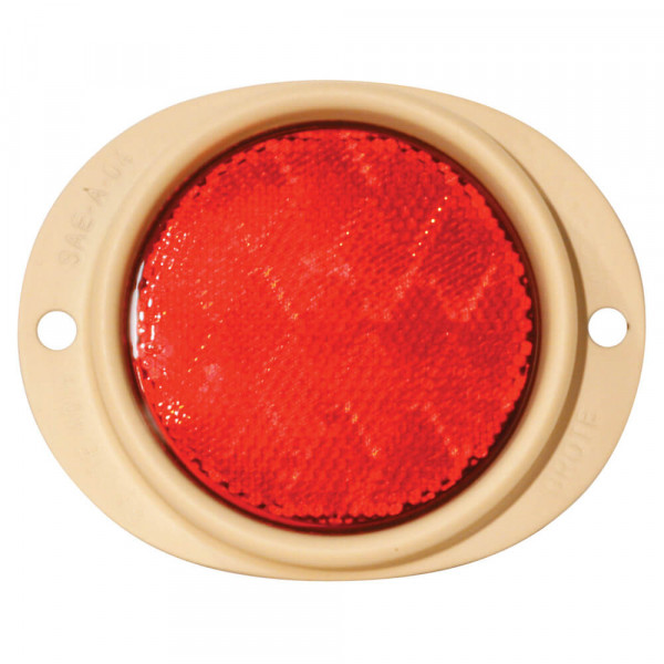 Steel Two-Hole Mounting Reflector, Red