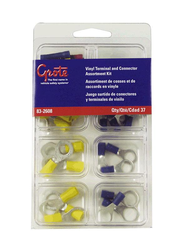 Kit surtido de terminales y conectores de vinilo y nylon,37 piezas.