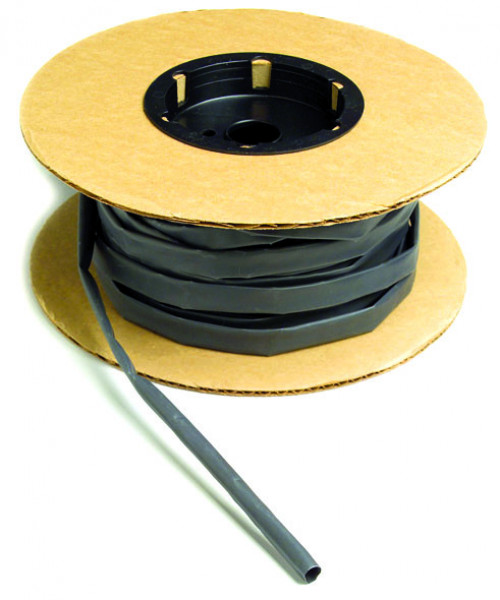 "Black Single Wall 100"" x 1/8"" Shrink Spool"