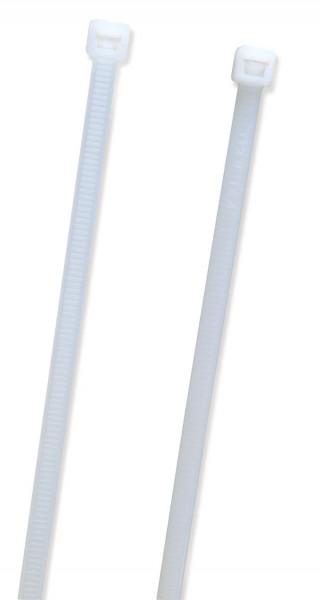 """White 15 1/4"""" Heavy Duty 100 Pack Tie Fastener"""