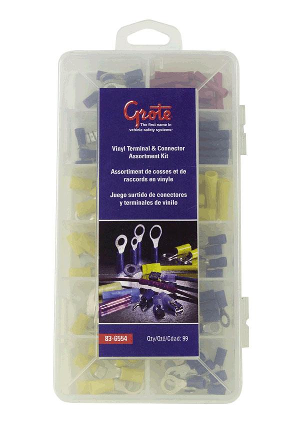 Kit surtido de terminales y conectores de vinilo y nylon,99 piezas.