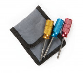 Set of three Deutsch terminal removal tools