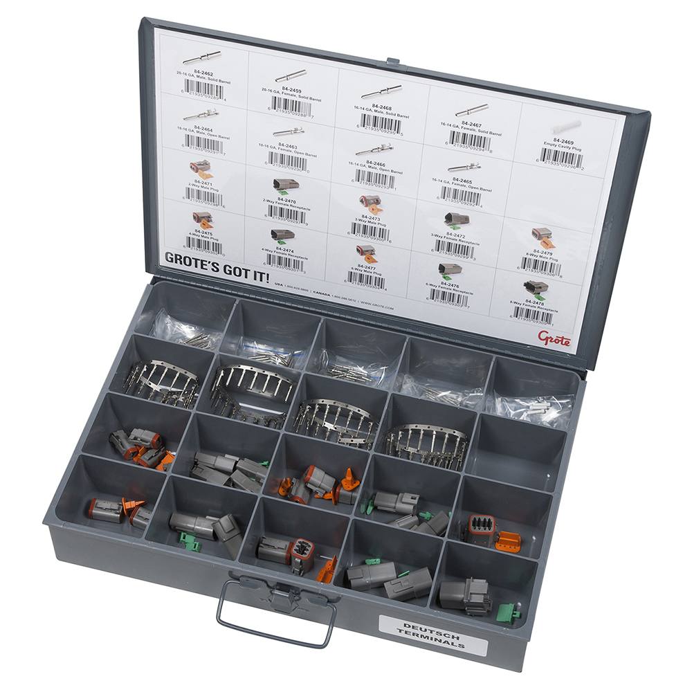 Deutsch Terminal And Connector Assortment Tray