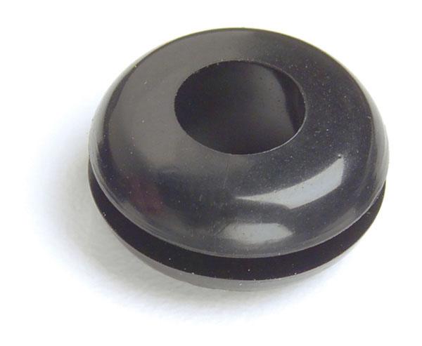 """1/2"""" Black Rubber Grommet"""