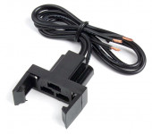 Black Dimmer Switch Assembly With Locking Ears