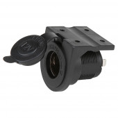 12 volt panel mount socket