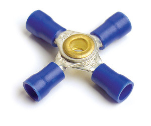 "Vinyl 4-Way ""X"" Connectors, 16 - 14 Gauge, 5pk"