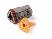 Deutsch - DT Series Housing & Wedgelocks, 3-Way Male Plug