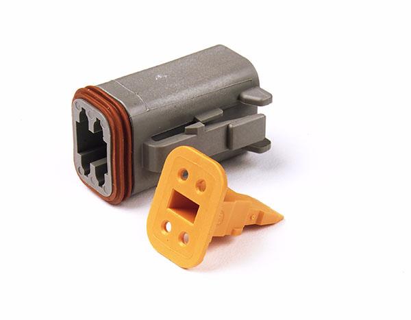 Deutsch - DT Series Housing & Wedgelocks, 4-Way Male Plug