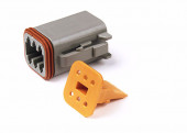 Deutsch - DT Series Housing & Wedgelocks, 6-Way Male Plug