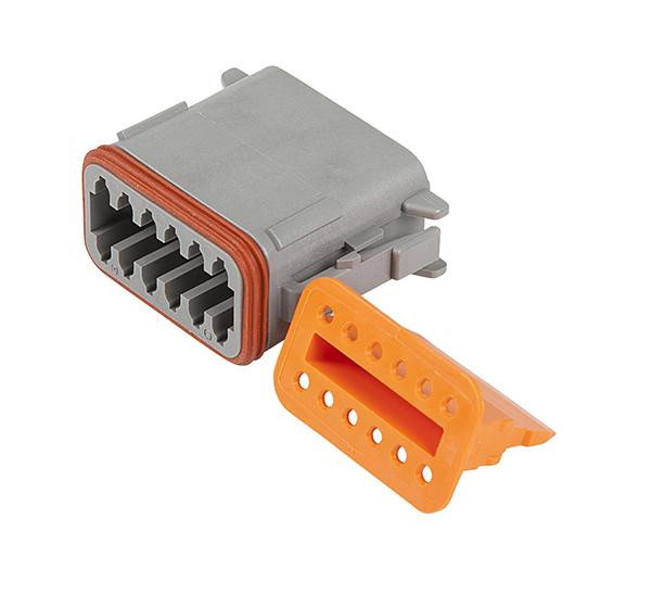 12-way male plug