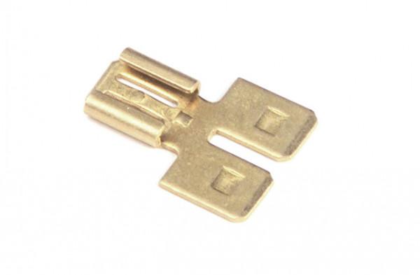 Adaptadores especiales sin aislamiento, desconexión rápida plana, doble, hembra, 15 u.