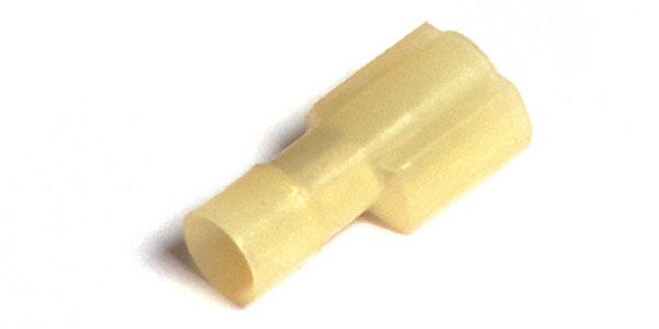 """Desconexiones rápidas de nylon, Calibre 12 - 10, Tamaño: .250"""", totalmente aislado, macho, 50 u."""