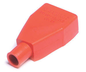 Red 1 & 2 Gauge Straight Battery Clamp