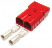 Red 1/0 Gauge Battery Cable Plug-In Connector