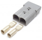 Gray 2/0 Gauge Battery Cable Plug-In Connector