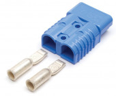 Blue 2/0 Gauge Battery Cable Plug-In Connector