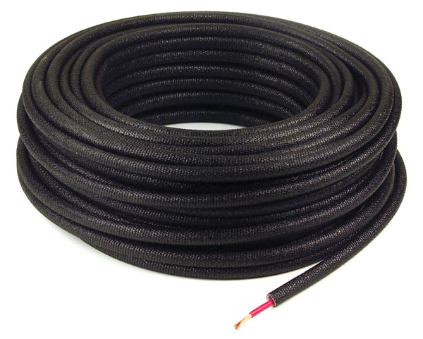 "1/4"" Black Non-Metallic Loom"