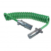 "Green UltraLink™ ABS Power Cord, 15' w/12"" Lead, Coiled, Premium thumbnail"