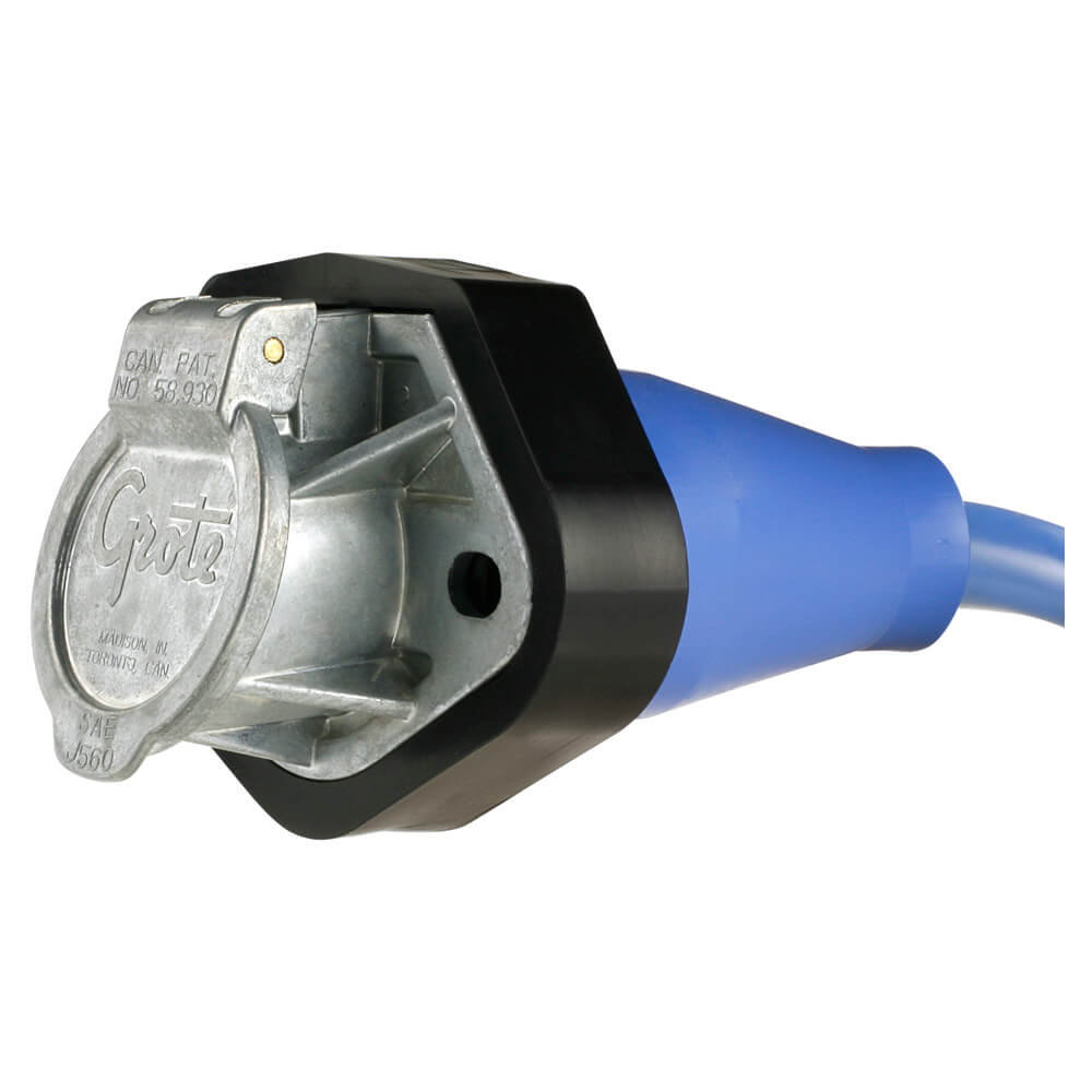 Straight-in Plug & Receptacle with 7-way female