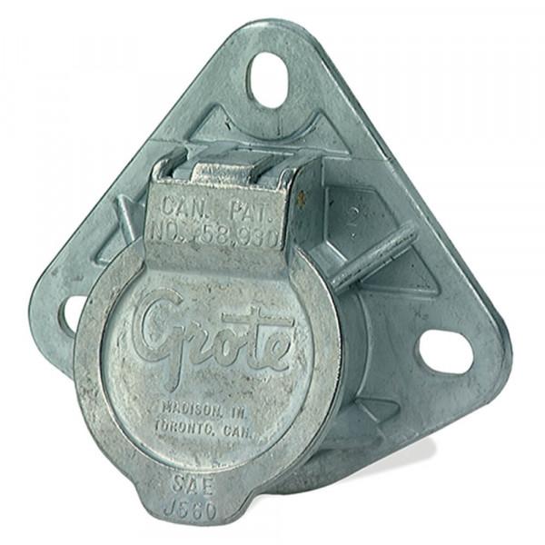 Ultra-Pin Receptacle Three-Hole Mount, Split Pin