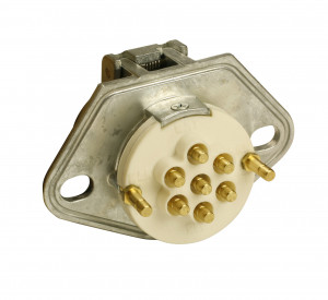 Ultra-Pin Receptacle Two-Hole Mount, Receptacle Only, Split Pin