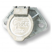 Tomacorriente Ultra-Pin con dos agujeros de montaje, Tomacorrientes con kit de terminales, Clavija ranurada