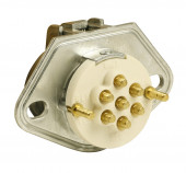 Ultra-Pin Receptacle Two-Hole Mount, Receptacle Only, Solid Pin