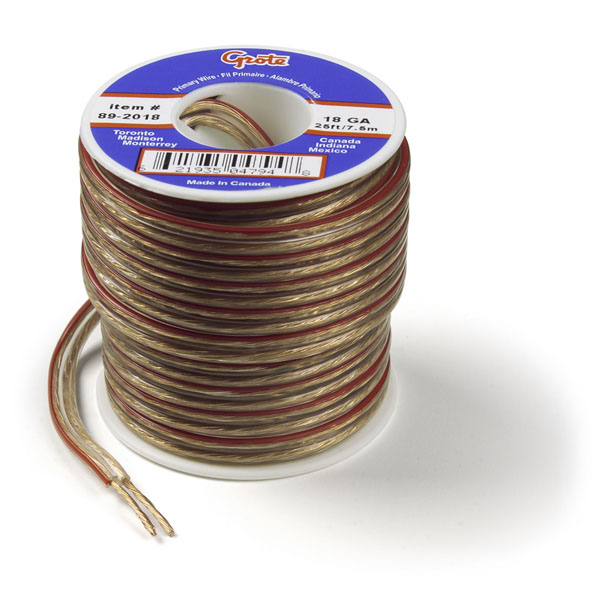 Speaker Wire, Wire Length 100', 18 Gauge