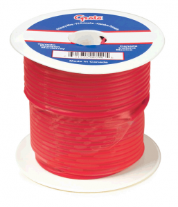 General Purpose Thermo Plastic Wire, Primary Wire Length 25', 6 Gauge