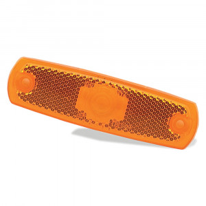 Yellow Clearance Marker Lens With Built In Reflector