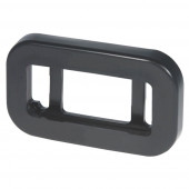 Grommet For Small Rectangular Lights, PVC, Black thumbnail