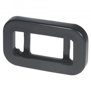 Grommet For Small Rectangular Lights, PVC, Black