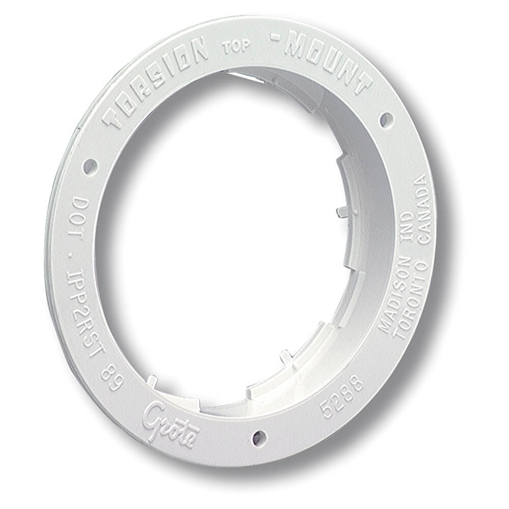 """Theft-Resistant Flange For 4"""" Round Lights, White"""