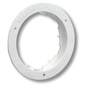 "Theft-Resistant Flange For 4"" Round Lights, White"