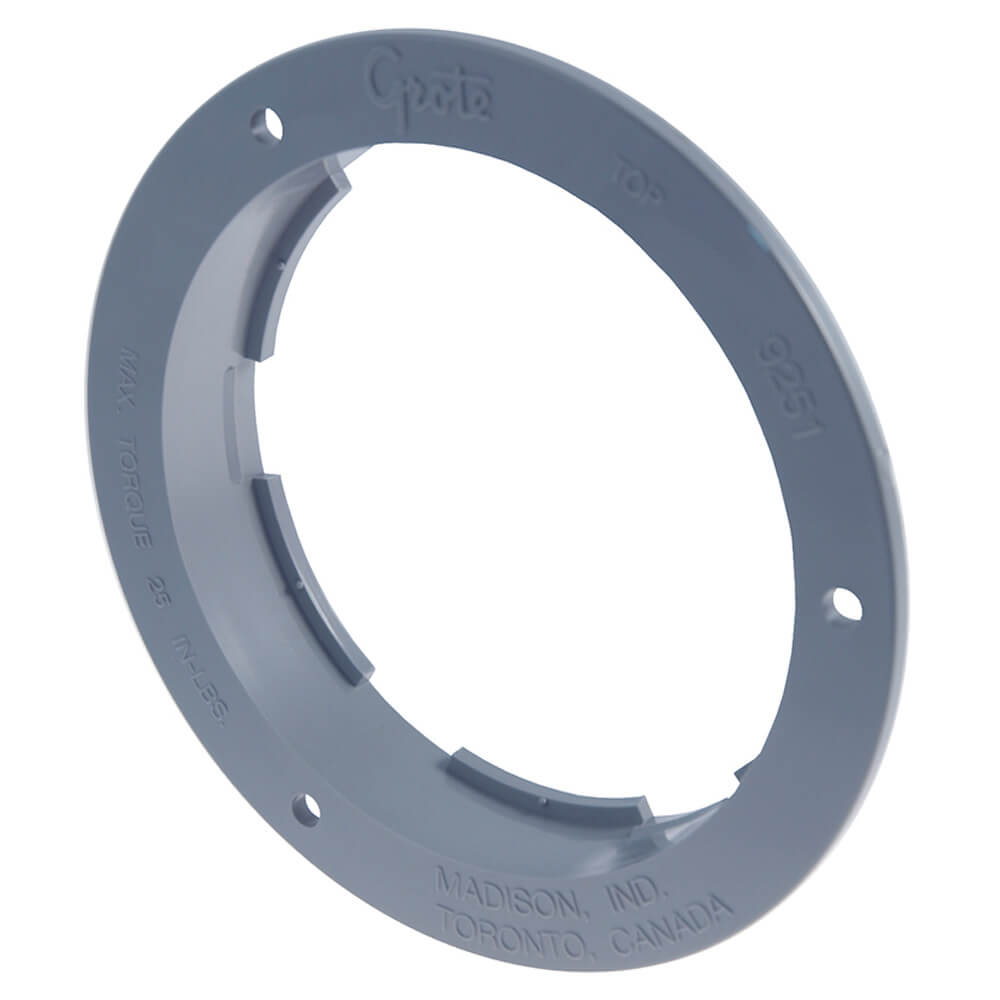 """Theft-Resistant Flange For 4"""" Round Lights, Gray"""