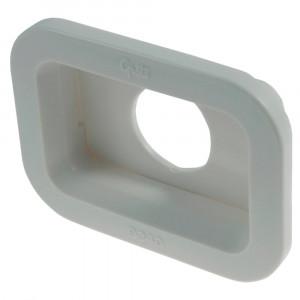 Dichtungsmanschette für kleine, rechteckige Leuchten, PVC, Weiß