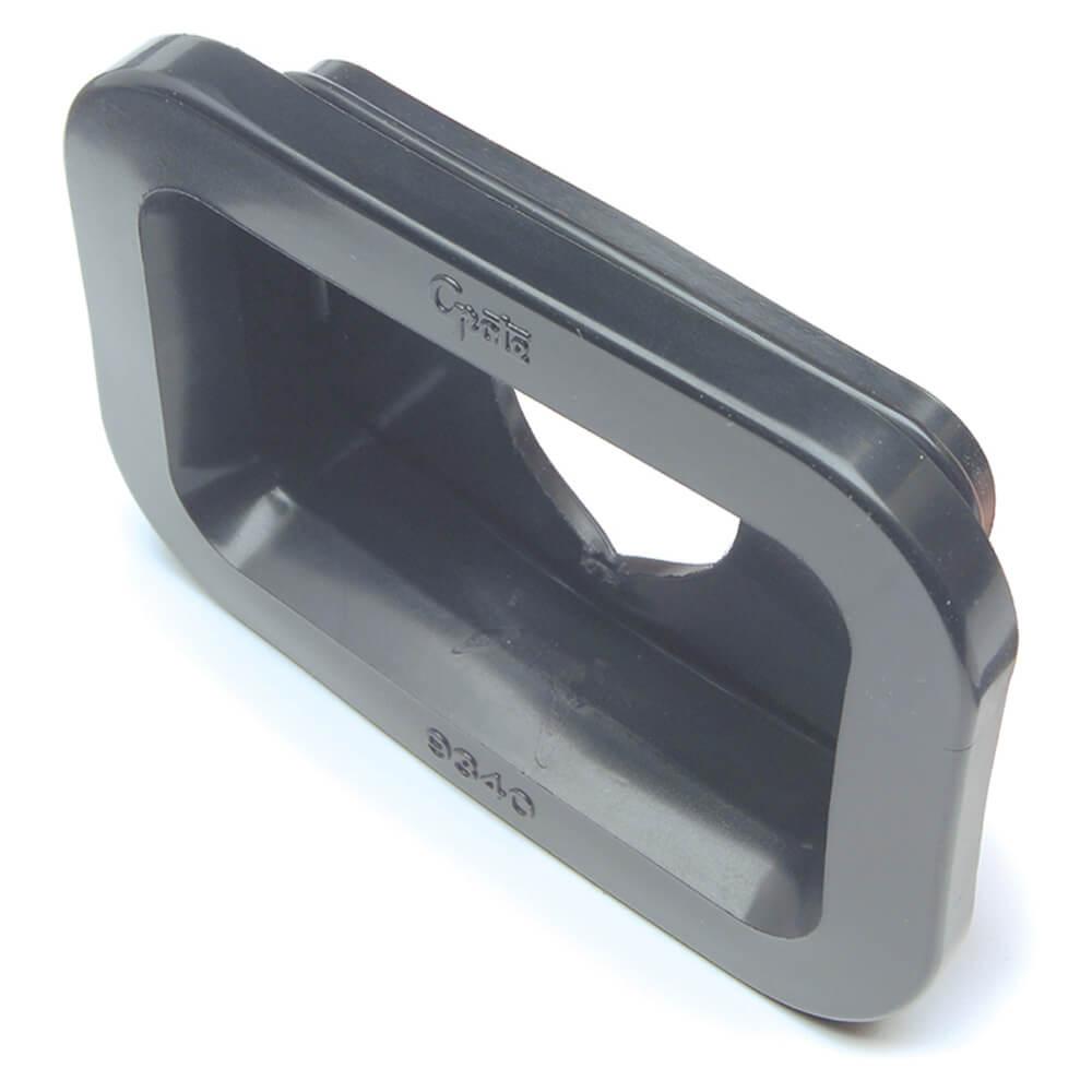 Dichtungsmanschette für kleine, rechteckige Leuchten, PVC, Schwarz